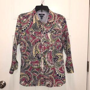 RALPH LAUREN CHAPS FLIP CUFF DRESS SHIRT XL 3/4 SL